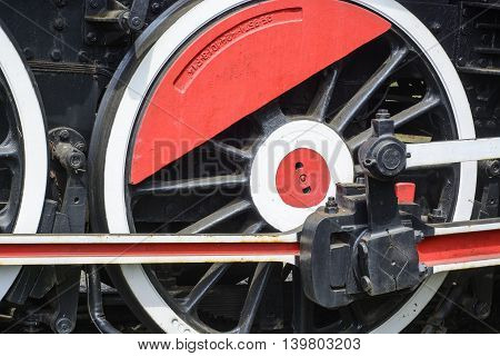 Old Steam Locomotive Wheel