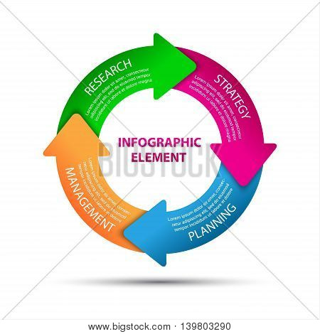 Modern vector infographic element business strategy vector illustration