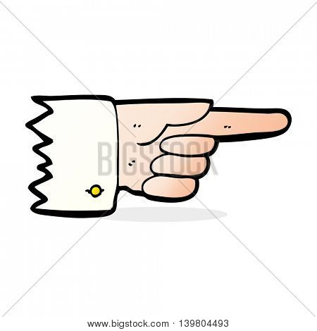 cartoon pointing hand symbol