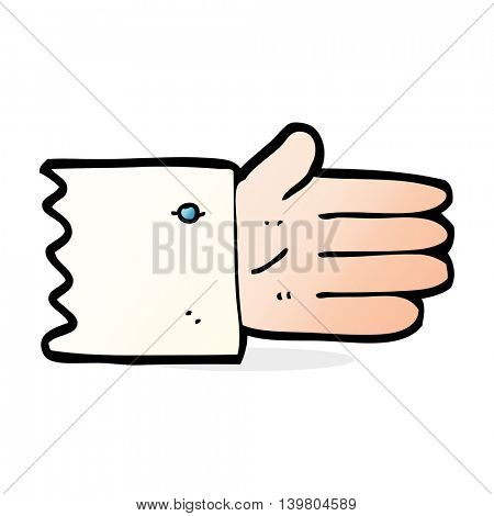 cartoon open hand symbol