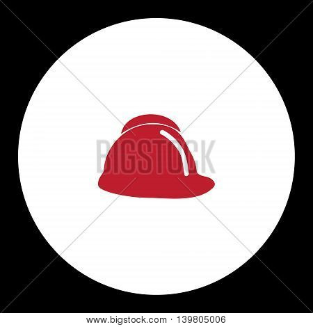 Red Fire Brigade Helmet Simple Isolated Icon Eps10
