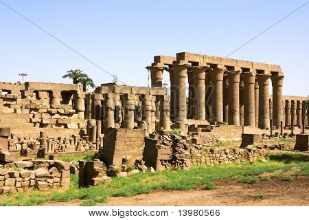 Inside of Luxor temple. Ancient egyptian culture.