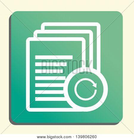 Files Reload Icon In Vector Format. Premium Quality Files Reload Symbol. Web Graphic Files Reload Si