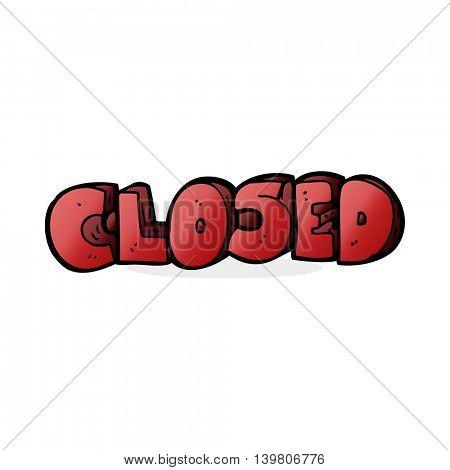 cartoon closed symbol