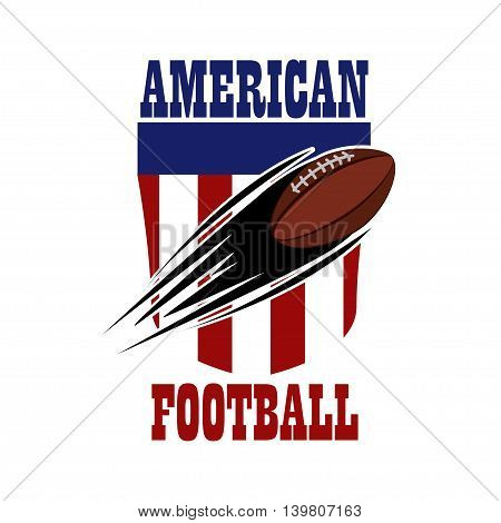 American football emblem. The sign on the background of the American background.