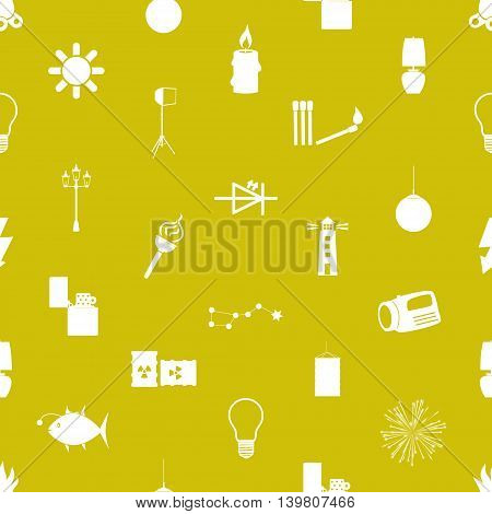 Light Theme Modern Simple Icons Seamless Pattern Eps10