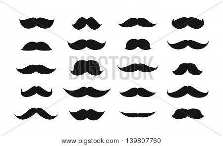 Moustache isolated on white background, vector illustration