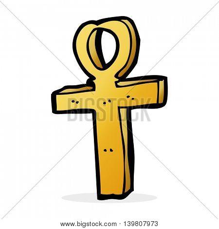 cartoon ankh symbol