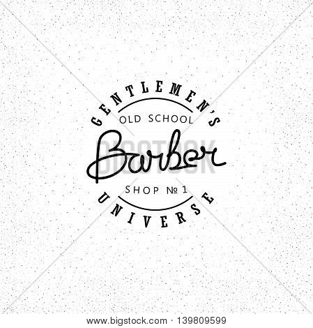 Vector emblem for Barber Shop. Modern linear minimalism. Design for Logos Stamp Badges Signboard t-shirts and others.