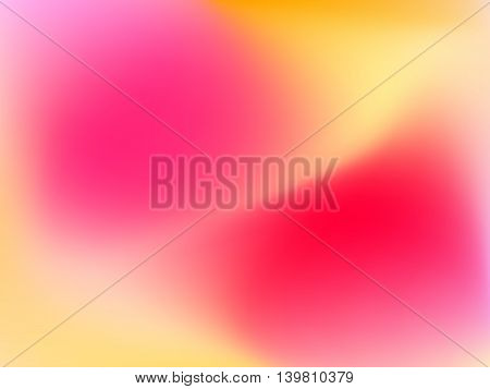 Abstract horizontal blur gradient background with trend pastel pink, purple, violet and yellow colors for deign concepts, web, presentations and prints. Vector illustration.