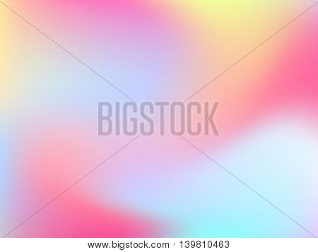 Abstract horizontal blur gradient background with trend pastel pink, purple, violet, yellow and blue colors for deign concept, web, presentations and prints. Vector illustration.