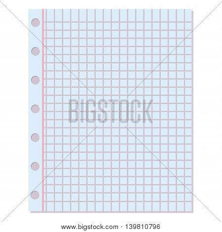 Notebook paper vector background. Blank education design notepad empty notebook paper sheet. Template object line notebook paper texture write office document vector page empty sheet.