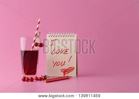 I Love You Message In Notepad