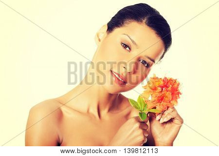 Portrait of beautiful young exotic woman
