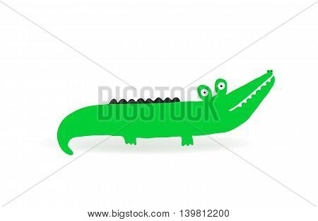 Isolated Crocodile for children decoration vector illustration
