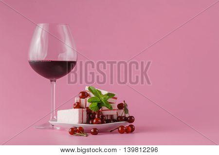 Cherry Wine On Pink