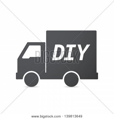 Isolated Truck Icon With    The Text Diy