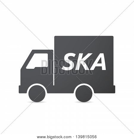 Isolated Truck Icon With    The Text Ska