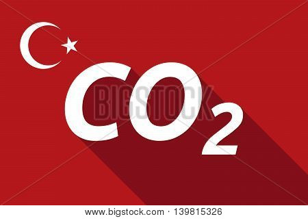 Long Shadow Turkey Flag With    The Text Co2