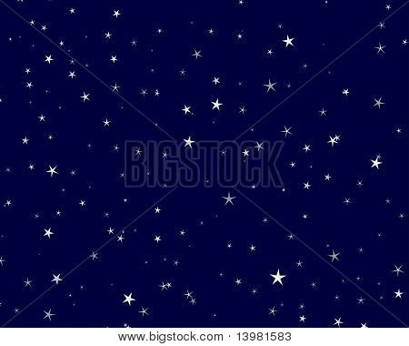Beautiful night starry sky background . Vector illustration.