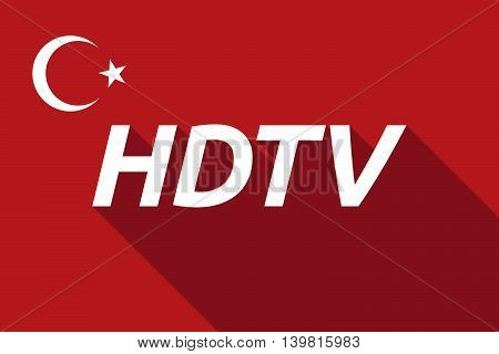 Long Shadow Turkey Flag With    The Text Hdtv