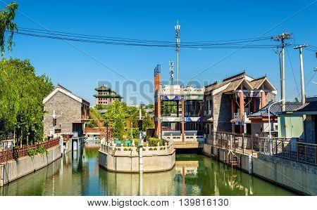 View of the Nanchang River in Beijing, China