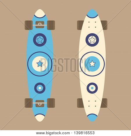 Longboard Top And Bottom View