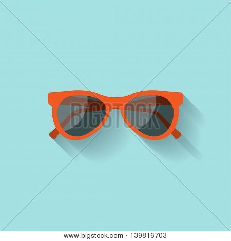 Sun glasses in a flat style. Holidays and tourism. Summer vacation.Vector illustration