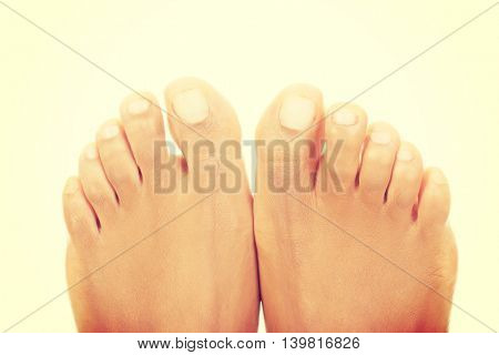 Beautiful female feet - close up on toes