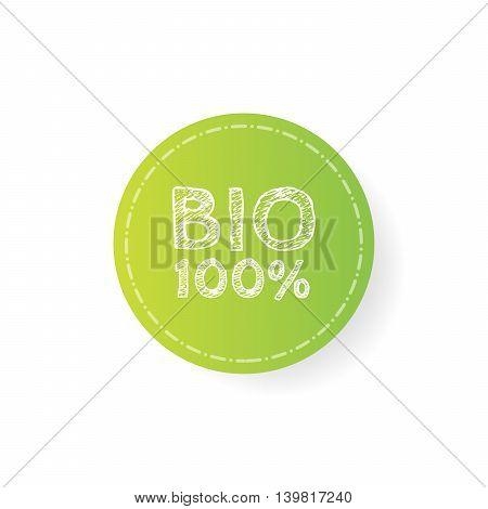 Grunge bio 100 percent natural rubber stamp, vector illustration.