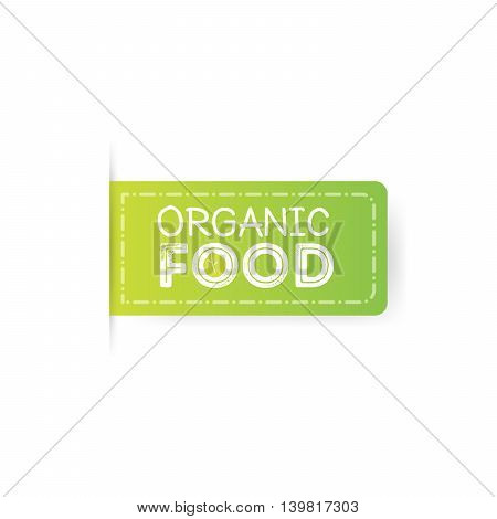 organic food rubber stamp Green Labels illustration