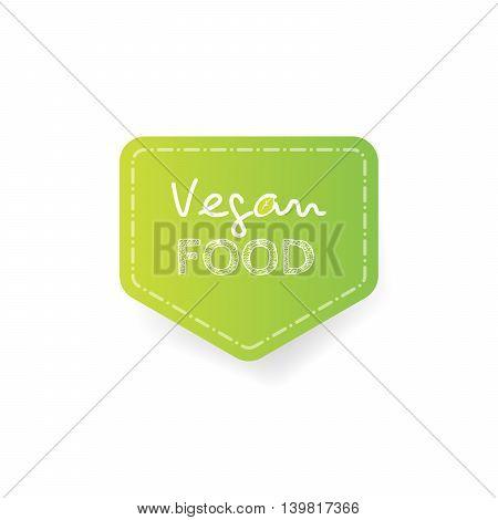 Cartoon doodle vector hand drawn logotype sticker. Vegan food.