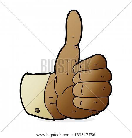 cartoon thumbs up symbol