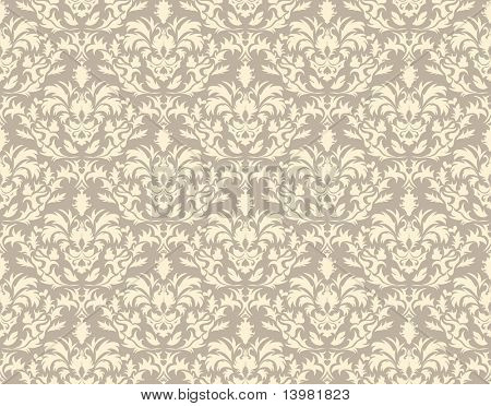 Abstract vector seamless damask background in gothic style