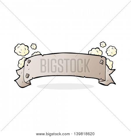 heraldry scroll banner cartoon