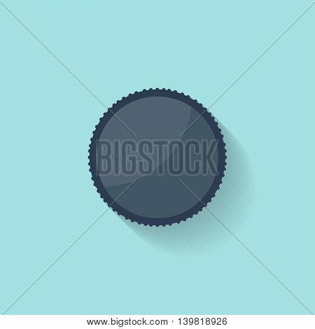 Photo filter lens in a flat style. Photography art. Photoshooting. Studio light. Vector illustration