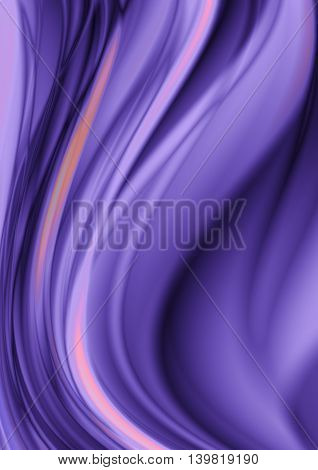 Abstract bright purple background with falling purple and pink curve