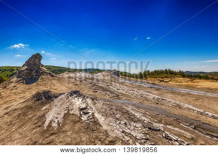 Active Muddy Volcanoes Buzau, Romania, outdoor shot