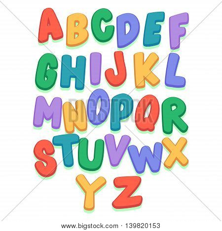 Vector Illustration of Colorful Capital Letter Set