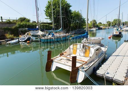 Lydney harbour Gloucestershire close to the Forest of Dean and Wye valley
