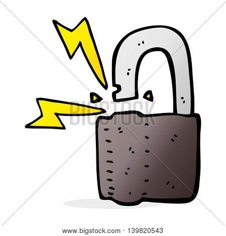 cartoon padlock symbol