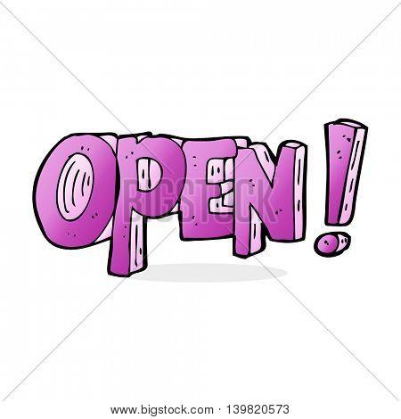 cartoon open symbol
