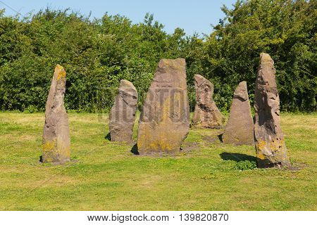 Lydney harbour Gloucestershire England uk picnic area and stones