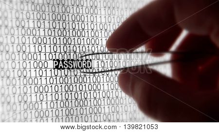 binary computer dark data evil hacker hacking hand macro monitor