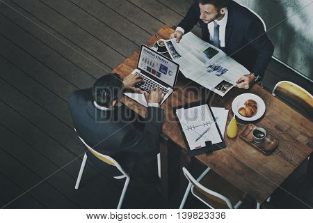 Breakfast Discussion Workplace Office Concept