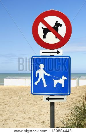 No Dogs On Beach And Dogs On Leash Only
