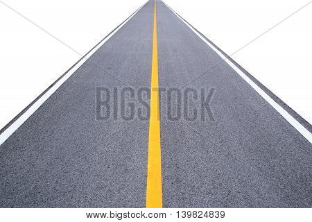 Perspective Long Road Isolate On White Background