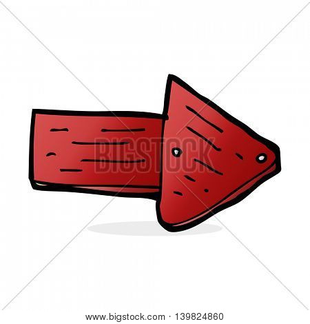 cartoon pointing arrow symbol