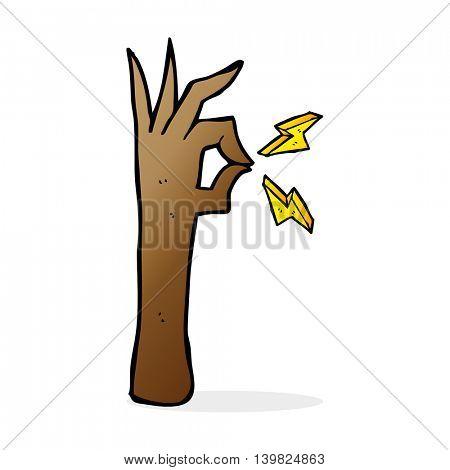 cartoon okay hand gesture