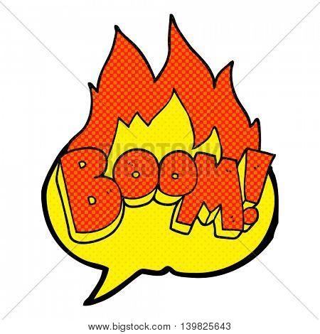 freehand drawn comic book speech bubble cartoon boom